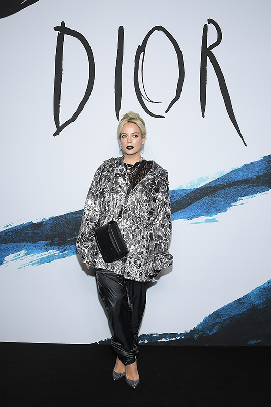 PARIS, FRANCE - JANUARY 18:  Lily Allen attends the Dior Homme Menswear Fall/Winter 2019-2020 show as part of Paris Fashion Week on January 18, 2019 in Paris, France.  (Photo by Pascal Le Segretain/Getty Images) *** Local Caption *** Lily Allen
